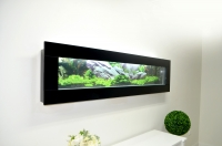 Aquarium Wall Mount Panoramic Fish Tank Black Glass