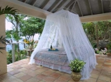 King Queen Size Black Bali Resort Style Mosquito Net Bed Canopy