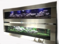 Smooth Stainless Plasma Fish Tank Aquarium 6ft Wall Mount Panora