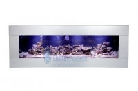 4ft Wall  Aquarium Smooth Stainless Panoramic Fish Tank 1200