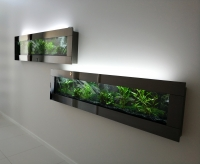 Tinted Stainless steel Aquarium 6ft  wall Fish Tank Wall Mount f