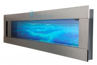 Wall Mount Aquarium Fish Tank 900mm Smooth Stainless Panoramic